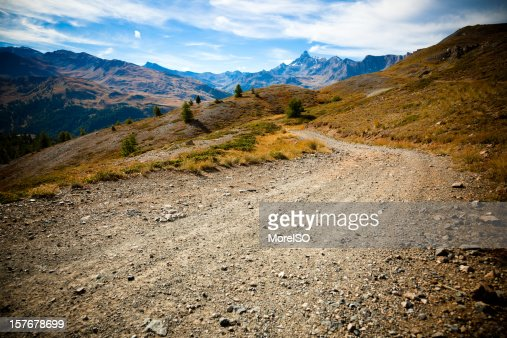 Country Dirt Road in the Alps