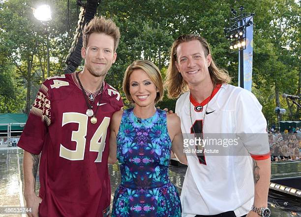 AMERICA Country duo Florida Georgia Line Brian Kelley and Tyler Hubbard perform in Central Park as part of the GMA Summer Concert Series onGOOD...