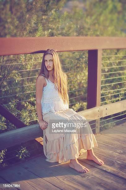 Country Girl On A Bridge