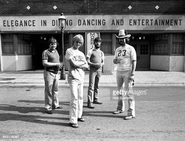Country Group Alabama L/R Jeff Cook Mark Herndon Ted Gentry and Randy Owen open 'My Home Is Alabama' Nightclub in Birmingham Alabama September 10 1980