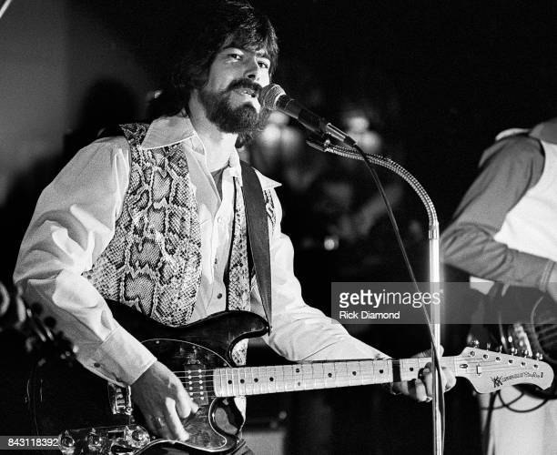 Country Group Alabama L/R Randy Owen performs at the opening of 'My Home Is Alabama' Nightclub in Birmingham Alabama September 10 1980