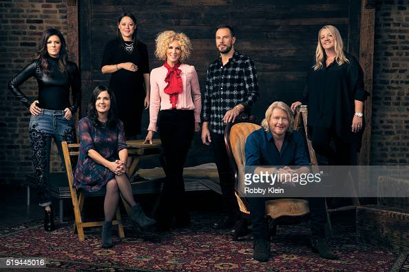 Country group Little Big Town and songwriters from left Karen Fairchild of LBT songwriter Lori Mckenna songwriter Hillary Lindsey Kimberly Schlapman...