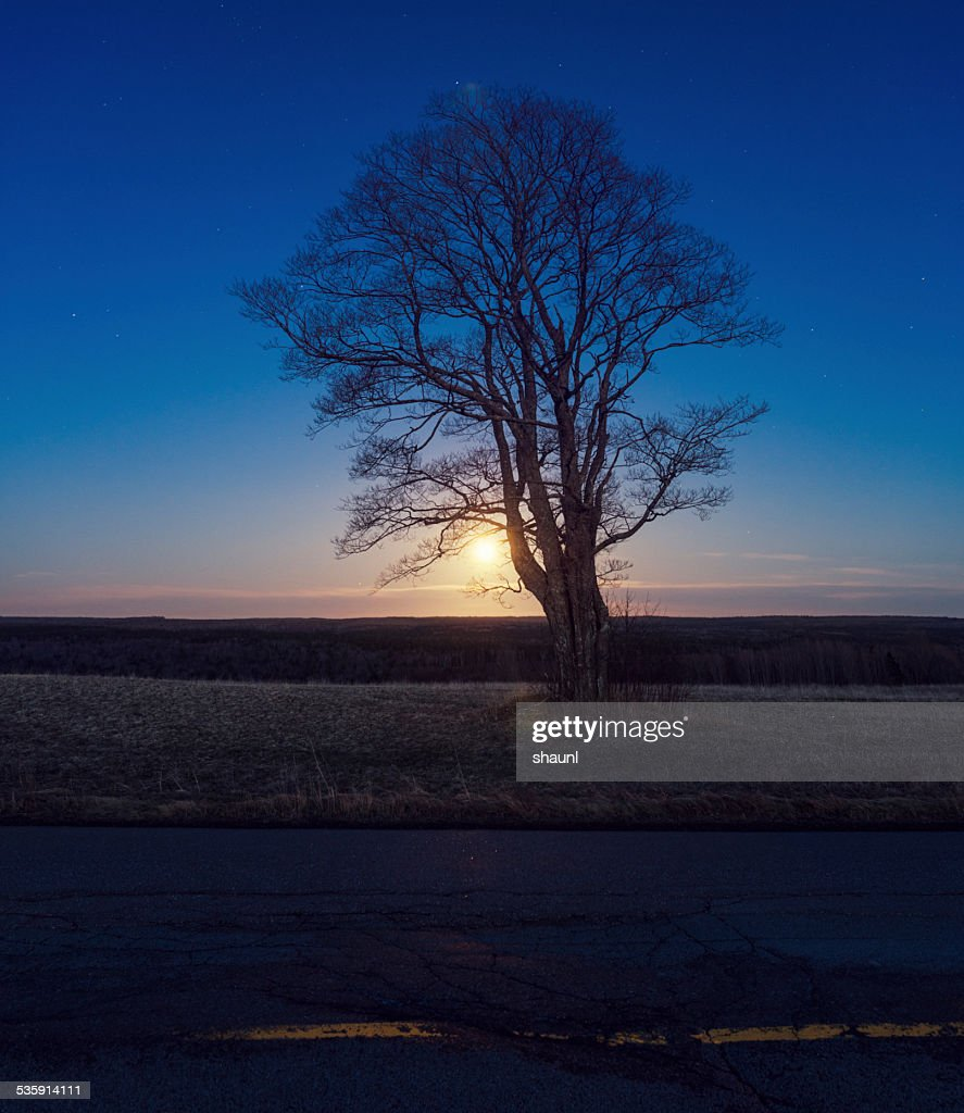 Moonrise país : Foto de stock