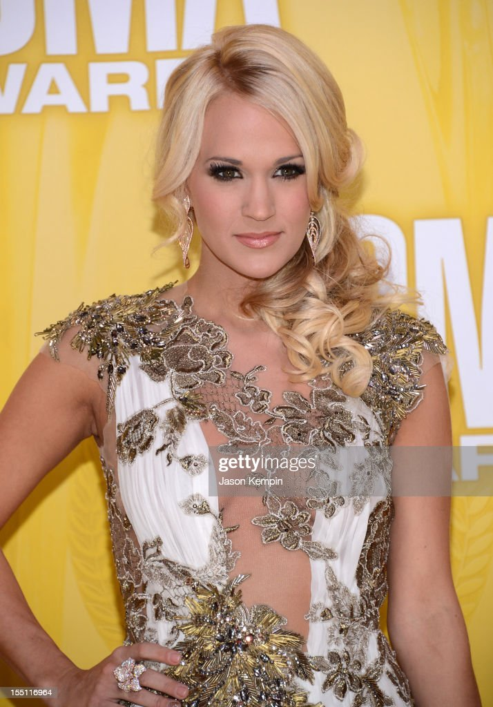 Country music artist <a gi-track='captionPersonalityLinkClicked' href=/galleries/search?phrase=Carrie+Underwood&family=editorial&specificpeople=204483 ng-click='$event.stopPropagation()'>Carrie Underwood</a> attends the 46th annual CMA Awards at the Bridgestone Arena on November 1, 2012 in Nashville, Tennessee.