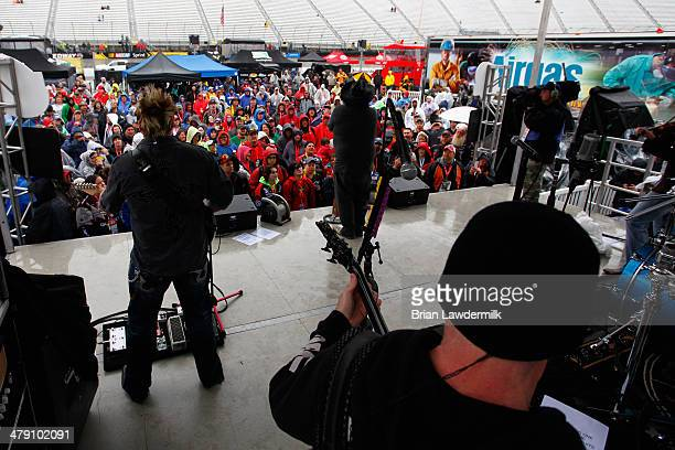 Country Music Artist Colt Ford performs prior to the NASCAR Sprint Cup Series Food City 500 at Bristol Motor Speedway on March 16 2014 in Bristol...