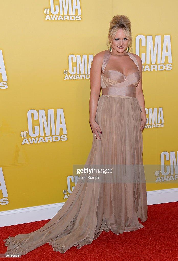 Country music artist Miranda Lambert attends the 46th annual CMA Awards at the Bridgestone Arena on November 1, 2012 in Nashville, Tennessee.