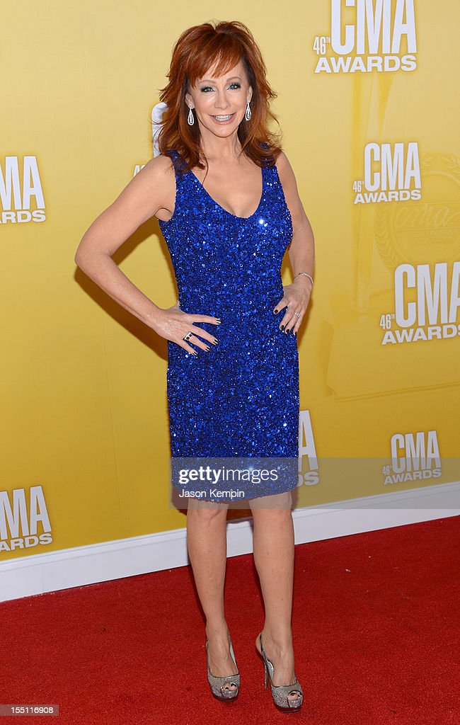 Country music artist/actress Reba McEntire attends the 46th annual CMA Awards at the Bridgestone Arena on November 1, 2012 in Nashville, Tennessee.