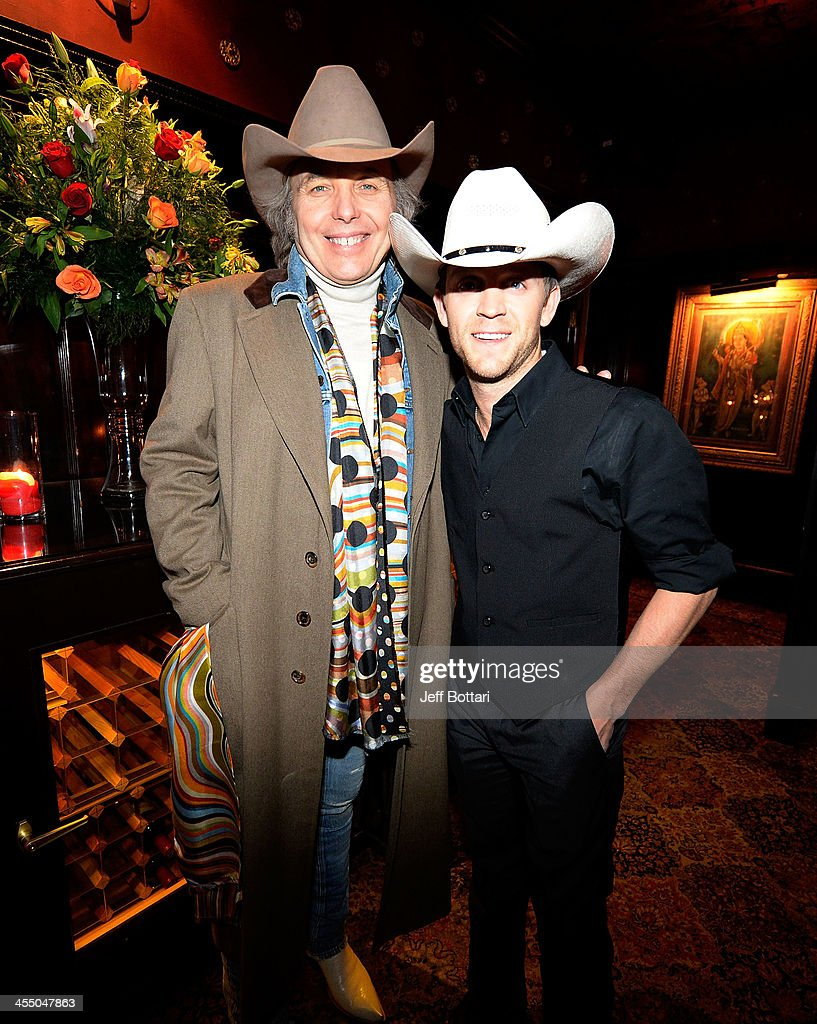 Country music artists <a gi-track='captionPersonalityLinkClicked' href=/galleries/search?phrase=Dwight+Yoakam&family=editorial&specificpeople=211566 ng-click='$event.stopPropagation()'>Dwight Yoakam</a> (L) and <a gi-track='captionPersonalityLinkClicked' href=/galleries/search?phrase=Justin+Moore&family=editorial&specificpeople=2437772 ng-click='$event.stopPropagation()'>Justin Moore</a> attend the Big Machine Label Group Crown Royal after party for the American Country Awards 2013 at the House of Blues Las Vegas Foundation Room inside the Mandalay Bay Resort and Casino on December 10, 2013 in Las Vegas, Nevada.
