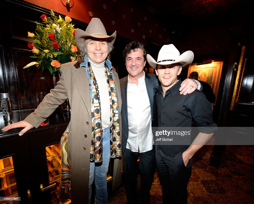 Country music artists <a gi-track='captionPersonalityLinkClicked' href=/galleries/search?phrase=Dwight+Yoakam&family=editorial&specificpeople=211566 ng-click='$event.stopPropagation()'>Dwight Yoakam</a>, Big Machine Label Group President and CEO <a gi-track='captionPersonalityLinkClicked' href=/galleries/search?phrase=Scott+Borchetta&family=editorial&specificpeople=4462508 ng-click='$event.stopPropagation()'>Scott Borchetta</a> and <a gi-track='captionPersonalityLinkClicked' href=/galleries/search?phrase=Justin+Moore&family=editorial&specificpeople=2437772 ng-click='$event.stopPropagation()'>Justin Moore</a> attend the Big Machine Label Group Crown Royal after party for the American Country Awards 2013 at the House of Blues Las Vegas Foundation Room inside the Mandalay Bay Resort and Casino on December 10, 2013 in Las Vegas, Nevada.