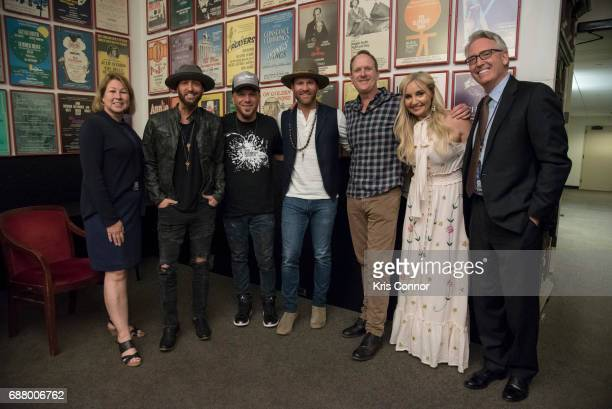 Country Music Association CEO Sarah Trahern Jim Beavers Heather Morgan Drake White Preston Trust Chris Lucas of Locash and National Association of...