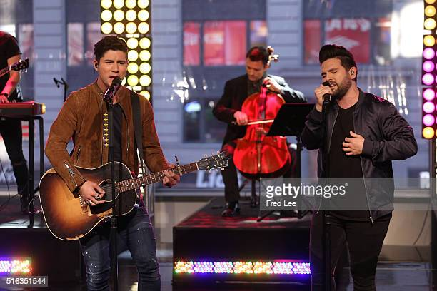 AMERICA Country music duo Dan Shay perform on GOOD MORNING AMERICA 3/18/16 airing on the ABC Television Network DAN SHAY