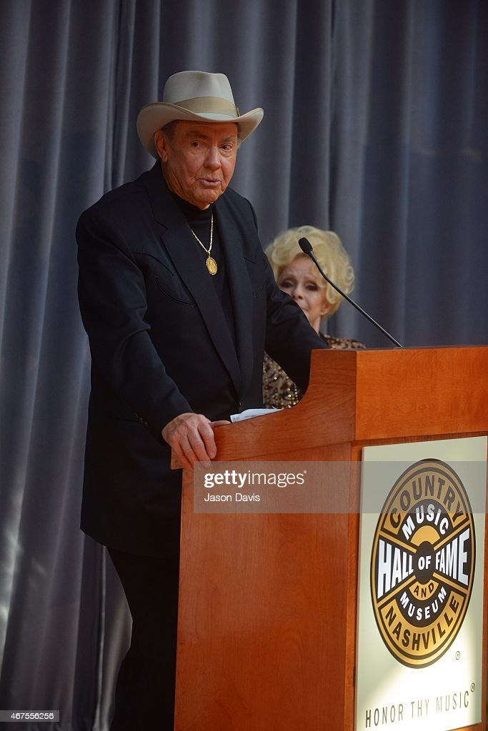 Country Music Hall of Fame inductee Jim Ed Brown during the 2015 Inductee announcement at Country Music Hall of Fame and Museum on March 25, 2015 in Nashville, Tennessee.