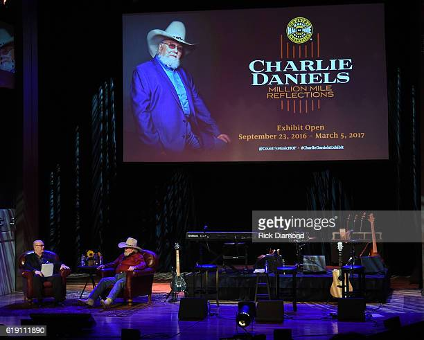 Country Music Hall of Fame's Michael McCall interviews Charlie Daniels during The Country Music Hall of Fame and Museum presents an Interview and...
