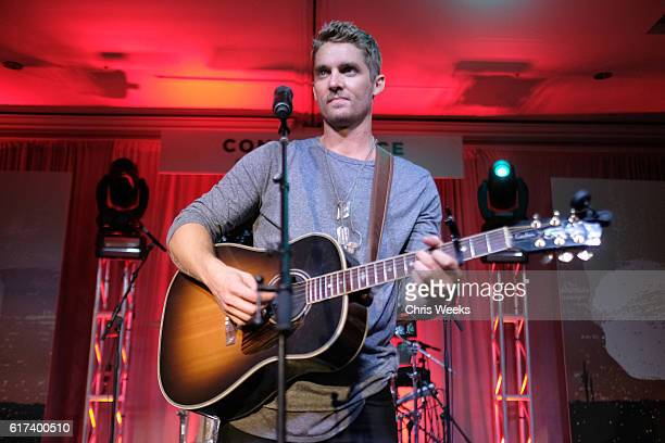 Country music recording artist Brett Young attends the Concordance Academy Gala 2016 A Western Fling Featuring Brett Young on October 22 2016 in St...