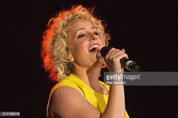 Country music singer and songwriter Cam performs on stage at the Tacoma Dome on February 13 2016 in Tacoma Washington
