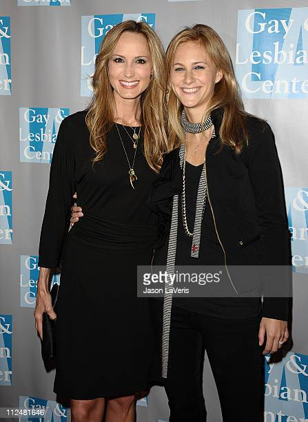 Country music singer Chely Wright and fiance Lauren Blitzer attend LA Gay Lesbian Center's 'An Evening With Women' at The Beverly Hilton hotel on...