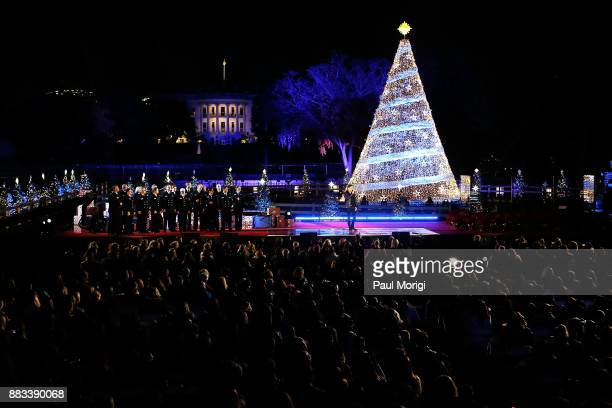 Country music singer Craig Campbell performs at the 95th annual National Christmas Tree Lighting Ceremony in President's Park on November 30 2017 in...