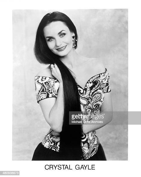 Country music singer Crystal Gayle poses