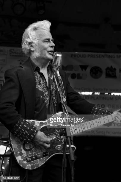 Country music singer Dale Watson performs at an outdoor concert in the historic Plaza in Santa Fe New Mexico