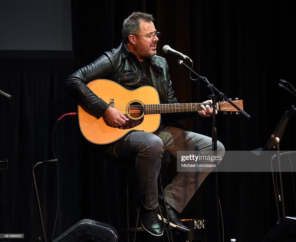 Country Music Singer Vince Gill performs onstage at The Country Music Hall Of Fame Museum All For The Hall New York Benefit Concert at PlayStation...