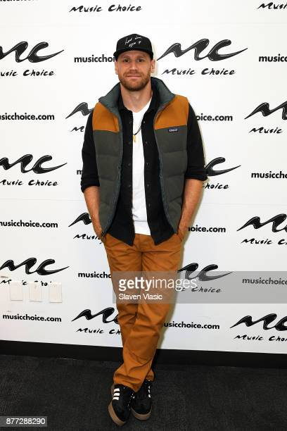 Country music singer/songwriter Chase Rice visits Music Choice on November 21 2017 in New York City