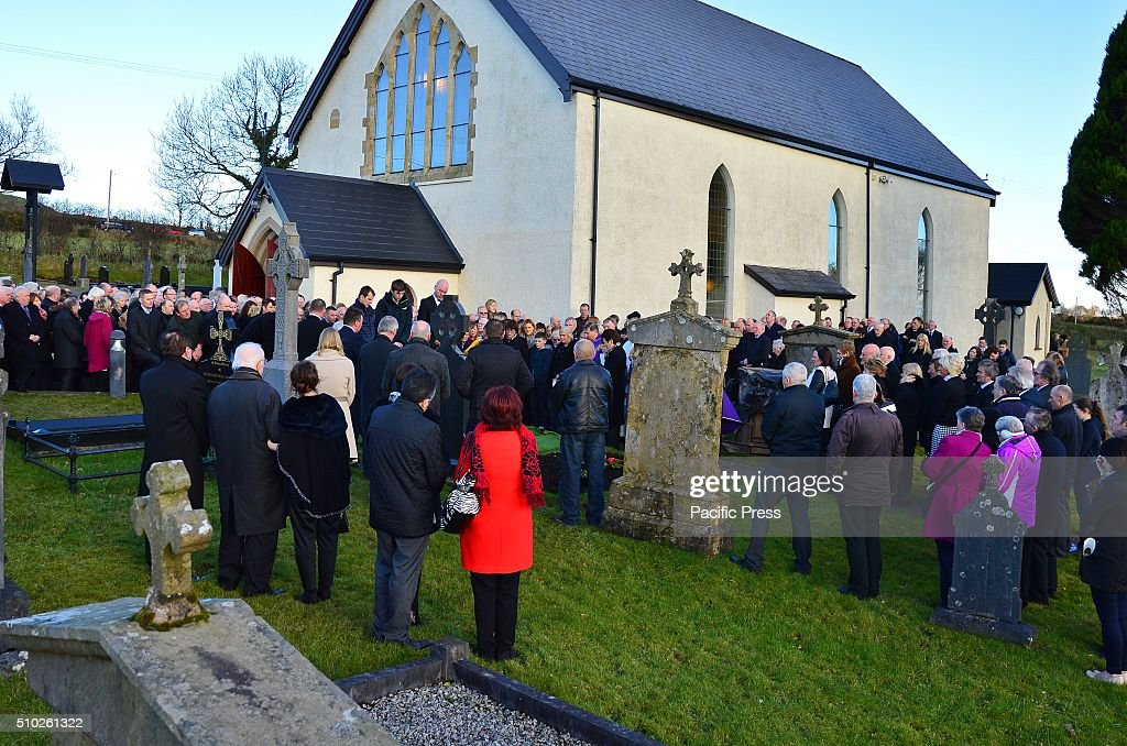 Country Music star Gene Stewart is laid to rest in St Patrick's Chruch, Aughnagar.