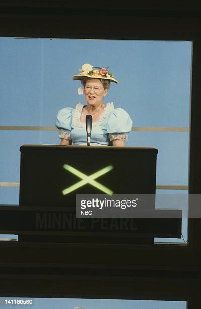 SQUARES Country Music Week Episode 55 Air Date Pictured Square guest/country comedian Minnie Pearl Photo by Gary Null/NBCU Photo Bank