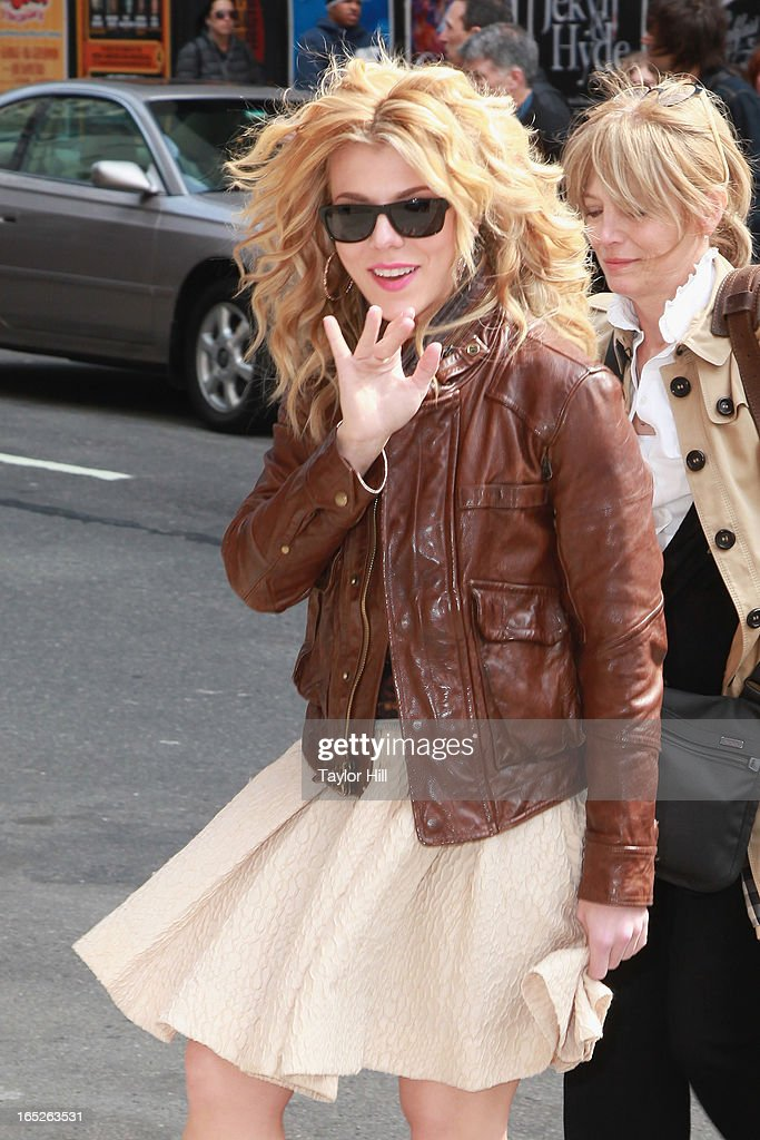 Country musician Kimberly Perry arrives at 'Late Show with David Letterman' at Ed Sullivan Theater on April 1, 2013 in New York City.