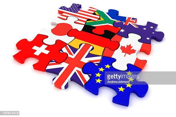 País conceito de'Puzzle'