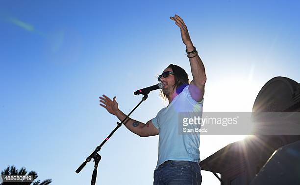 Country recording artist Jake Owen performs on stage during his concert during THE PLAYERS Championship on THE PLAYERS Stadium Course at TPC Sawgrass...