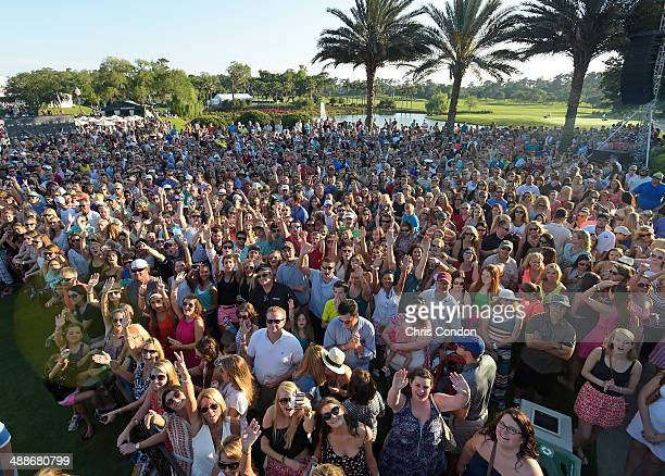 Country recording artists Jake Owen performs during the military appreciation concert during THE PLAYERS Championship on THE PLAYERS Stadium Course...