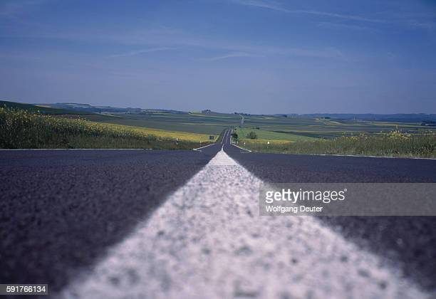 Country road and agricultural landscape, Germany