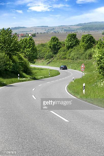 Country road, curve