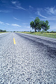 Country road, ground view, Texas, USA