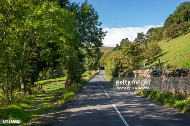 Country road in Swaledale, Yorkshire Dales, England