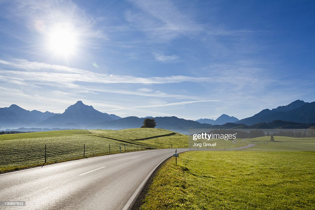 A country road near Füssen : Stock Photo