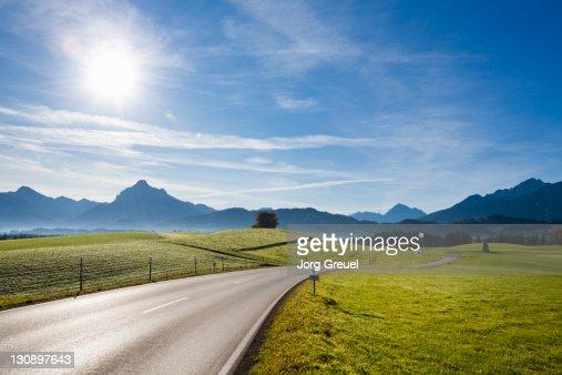 A country road near Füssen : Stock Photo