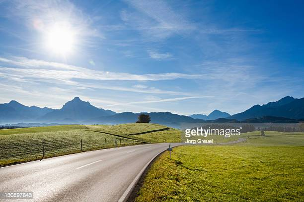 A country road near F?ssen
