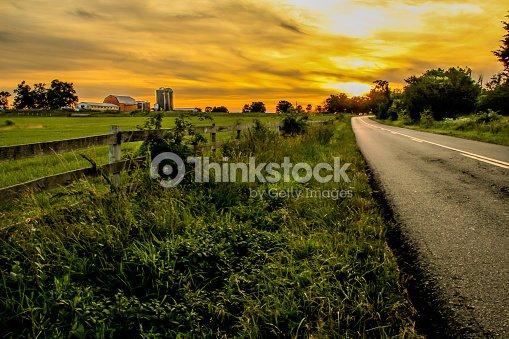 Estradas rurais : Foto de stock