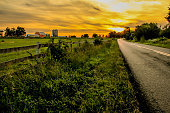 Sunset in the country.