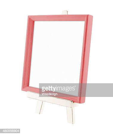 country rustic style wood frame with white wood easel : Stock Photo