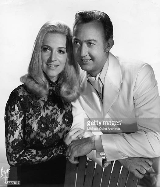 Country singer and Grand Ole Opry star Jack Greene and his partner singer Jeannie Seely pose for a portrait in circa 1970 in Nashville Tennessee