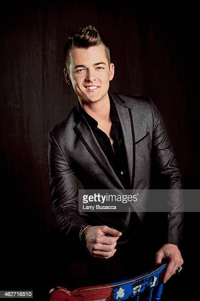 Country singer Chase Bryant poses for a portrait on December 15 2014 at Music City Center in Nashville Tennessee