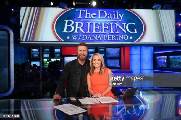 Country singer Dierks Bentley and Dana Perino of FOX News pose for a photo at FOX Studios on October 17 2017 in New York City