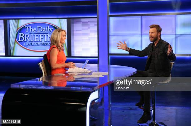 Country singer Dierks Bentley talks with Dana Perino of FOX News during a visit to FOX Studios on October 17 2017 in New York City