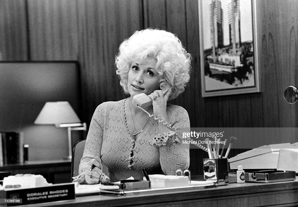 Country singer Dolly Parton acts in a scene from the movie '9 to 5' which was released on December 19, 1980.