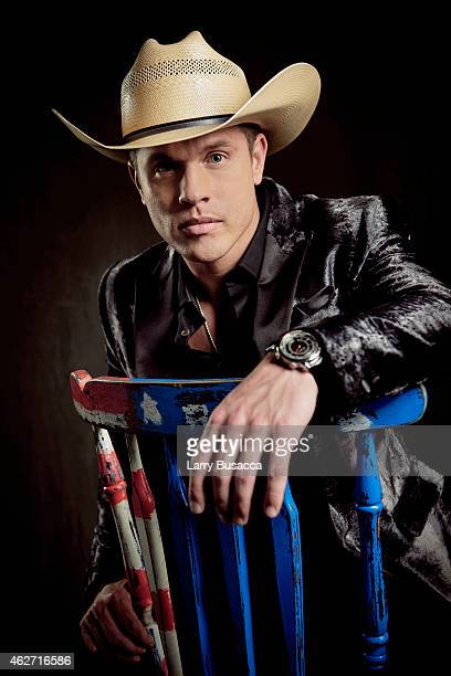 Country singer Dustin Lynch poses for a portrait on December 15 2014 at Music City Center in Nashville Tennessee