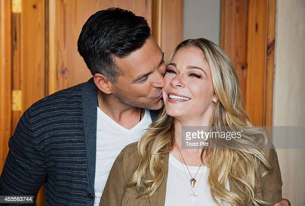 Country singer LeAnn Rimes and actor Eddie Cibrian are photographed for USA Today on July 15 2014 in New York City PUBLISHED IMAGE