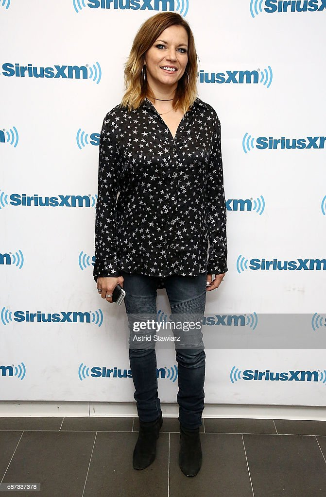 Country singer Martina McBride visits the SiriusXM Studios on August 8 2016 in New York City