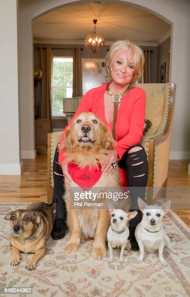 Country singer Tanya Tucker is photographed with their dogs for Closer Weekly Magazine on July 18 2017 at home in Tennessee